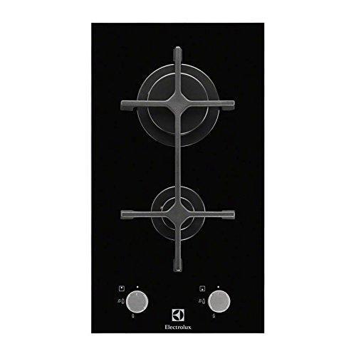 Plaque Gaz 2 feux-Electrolux EGC3322NVK - Plaque de cuisson Gaz - Dimensions produit (LxP en cm) : 29 / 52