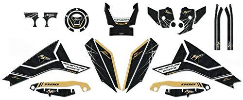 Kit Completo Adhesivos 3D para Moto Compatible Honda Africa Twin Adventure 1100L - Negro Oro