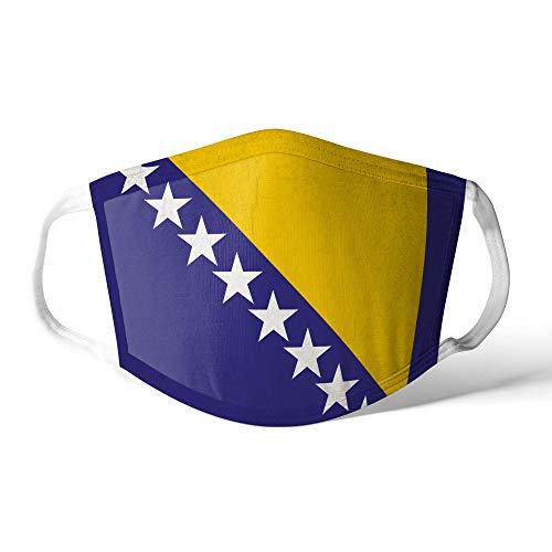 M&schutz Maske Stoffmaske Mittel Notleidende Flagge Bosnien Und Herzegowina Wiederverwendbar Waschbar Weiches Baumwollgefühl Polyester Fabrik