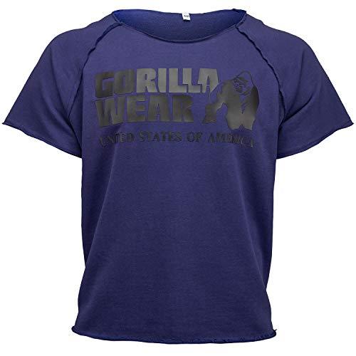 GORILLA WEAR Classic Work out Top per Bodybuilders - Strongman e Fitness Navy L/XL