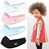 4 Pairs Kids Arm Sleeves UV Sun Protection Sleeves Kids Cooling Arm Covers Cartoon Arm Sleeves for Outdoor Sports (Cartoon Style)