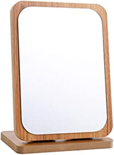 Wooden Folding Makeup Mirror Desktop Vanity Mirror Desktop Large Company Office Dormitory Student