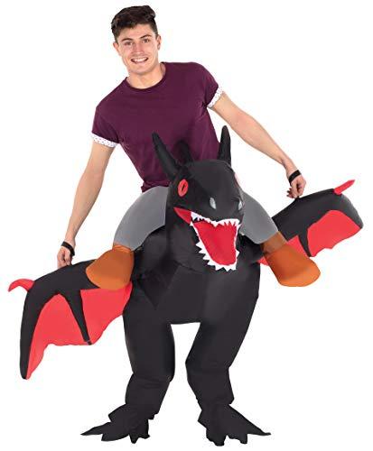 Disfraz de Halloween Morph Negro inflable Ride-On dragón para adultos