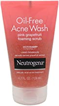 Neutrogena Oil-Free Acne Wash Pink Grapefruit Foaming Scrub, 4.2 Ounce (Value Pack of 2)