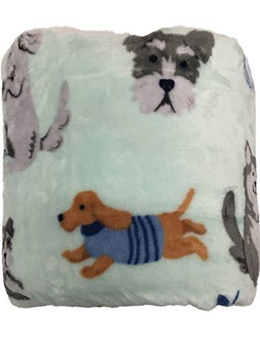The Big One Super Soft Plush Throw (Aqua Dogs)
