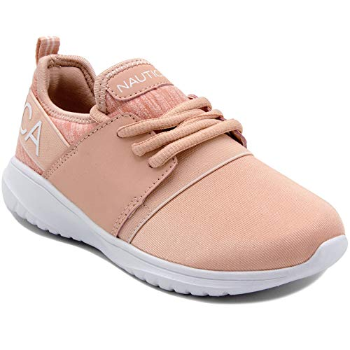 Nautica Missy Youth Girls Athletic Fashion Cross Trainer Lace Up Running Sneakers -Kappil Girls-Blush-3