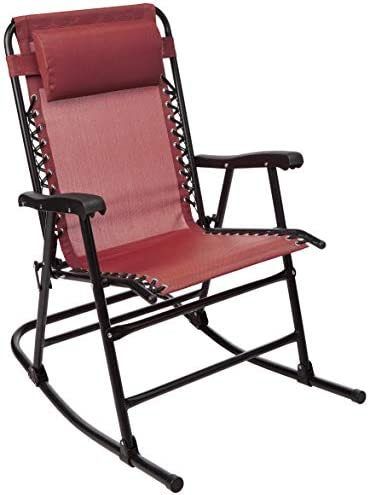 Best AmazonBasics Foldable Rocking Chair, Red