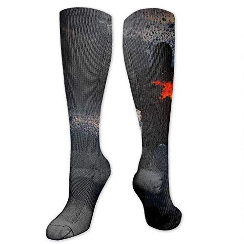 Digitale Gemälde Feuer lange Socken Unisex Fußball Socken