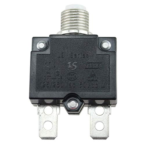 MXECO Interruptor / 10A / 15A / 20A / 30A Circuito 5A impermeable Push Button reajustable térmica Interruptor de circuito de fusibles de montaje en panel