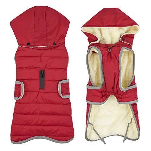 Idepet Dog Coat Warm Jacket, Reflective Pet Fleece Vest...