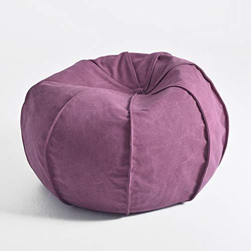 YLCJ pompoen luxe sofa katoen linnen zitzak slaapkamer creativiteit wasbaar woonkamer Single sofa gember geel/paars/donkergrijs 60 * 51 cm (kleur: gember geel Maat: 60 * 51 cm)