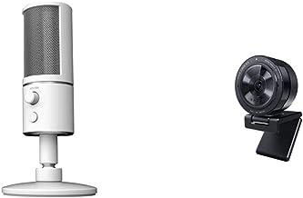 Razer Seiren X USB Streaming Microphone + Kiyo Pro Streaming Webcam Bundle: Mercury White