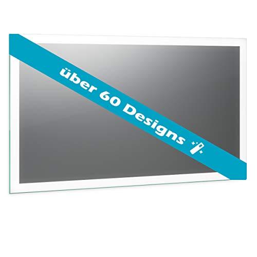 Spiegel ID Custom: Konfiguriere deinen LED BADSPIEGEL mit Beleuchtung - über 60 Designs - nach Wunschmaß - Verschiedene Zusatzoptionen - Modell: Noemi 21 Design