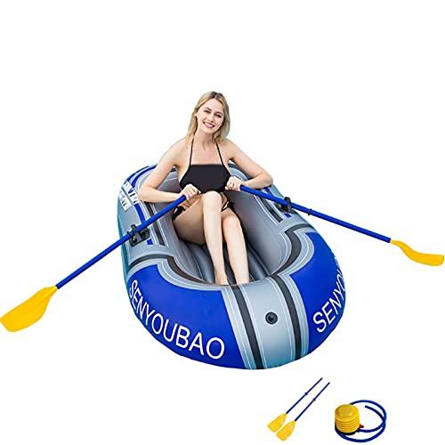 Bote Inflable para 2 Personas, Kayak, Bote de Pesca, Kayak para niños, balsa Gruesa, Asalto de Goma, aerodeslizadores Resistentes al Desgaste(Color:Gray)