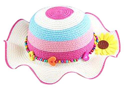 Filles Chapeau de soleil Princesse Hat Chapeau Respirant Summer Beach Hat [C]