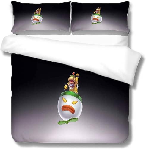 ZJJIAM Super Mario - Ropa de cama infantil, diseño de Mario Sonic Anime