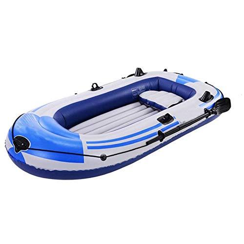 Bewinch Kayak Gonfiabile, Materasso Gonfiabile per Barca Marina in PVC Resistente, Barca da Pesca per Gommone Gonfiabile per 3 Persone, Supporto Fino A 250 kg