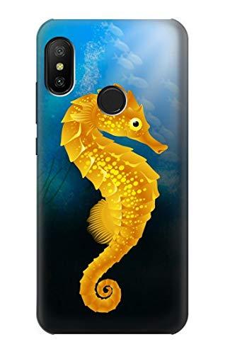 Innovedesire Seahorse Underwater World Hülle Schutzhülle Taschen für Xiaomi Mi A2 Lite (Redmi 6 Pro)