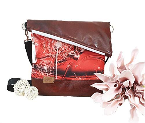 Atelier MiaMia - Handtasche 01 Pusteblume rot (Handtasche + mini)