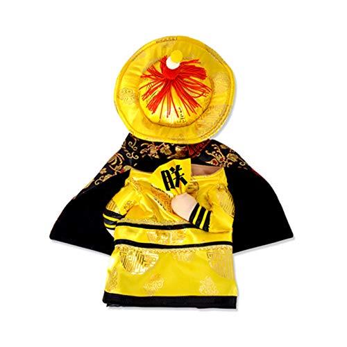 Lustige Prinzessin Cosplay Kleidung for Katzen-Halloween-Kostüm for Hunde Weihnachten Anzug Cat Kleidung Hundeausstattung, Dog Fashion Overall Kleidung (Color : Emperor, Size : Medium)