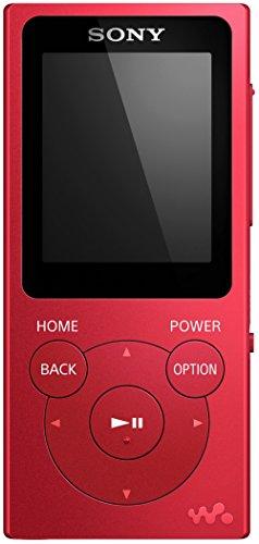 Sony NWE394R.CEW - Reproductor MP3 (reproducción de música, foto, vídeos, radio FM, 8 GB) rojo