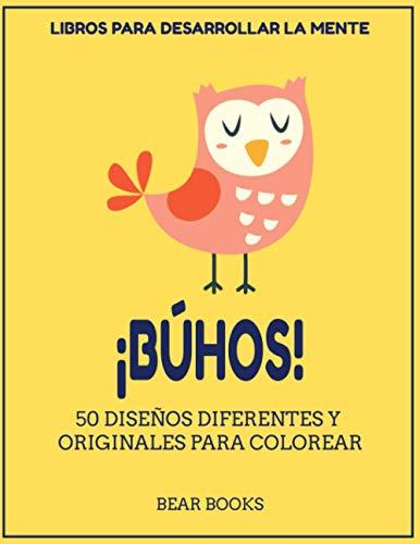 Libro para colorear BÚHOS: 50 diseños diferentes para colorear