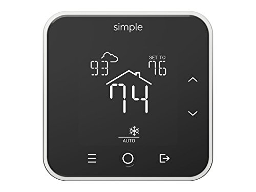 The Simple Thermostat, Energy Star Wi-Fi Smart Thermostat With Mobile App, 7 Day Schedule,...