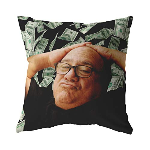 Brand Free Danny Devito with Money Throw Pillow/Pillow Cover/Pillowcase   Funny Frank Reynolds Always Sunny Home/Dorm Decorative Pillows for Bed or Couch