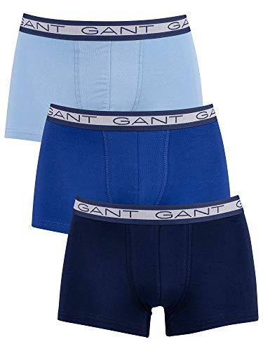 GANT Herren Basic Trunk 3-Pack Boxershorts, Capri Blue, XL