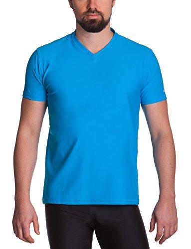 iQ-UV Herren 300 Regular geschnitten, V-Ausschnitt, UV-Schutz T-Shirt, Hawaii, M (50)