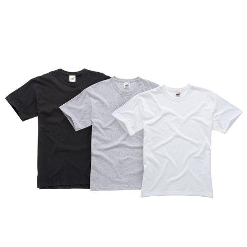 Fruit of the Loom Herren Shirt/ T-Shirt 3 er Pack 110083, Weiß, 54