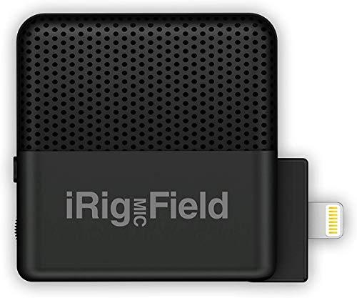 IK Multimedia iRig Mic Field Microfono Ultra-compatto Stereo per iPhone e iPad, Nero