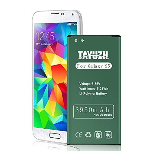 TAYUZH Galaxy S5 Battery 3950mAh Li-ion Replacement Battery for Samsung Galaxy S5, I9600, G900A(AT&T), G900V(Verizon), G900T(T-Mobile), G900P(Sprint), G900F, G900H, G900R4