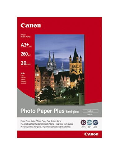 Canon 1686B032 SG-201 semi glossy photo paper inkjet 260g/m2 A3+ 20 Blatt Pack