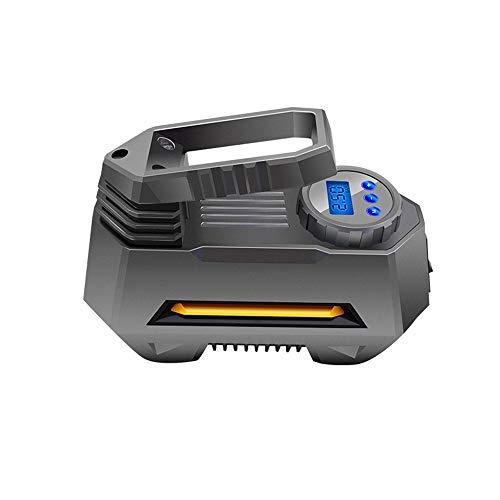 L&K Compresseur d'air de Voiture Pompe-Portable 12V DC100psi gonfleur de Pneu avec l'affichage numérique et Lampe de Poche LED pour la Voiture, Moto, Bicyclette, Boule, Jouets gonflables et d'autres