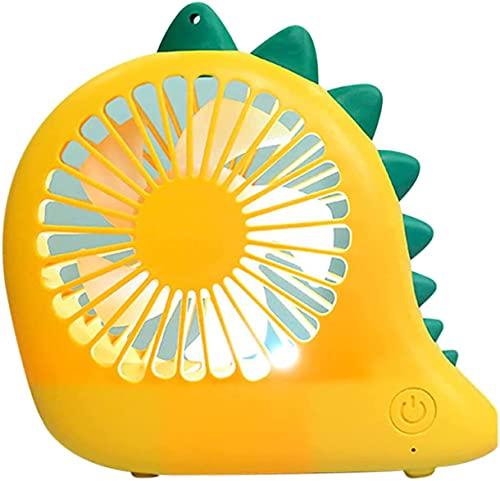 DLRBDMM Ventilador de cuello de dibujos animados de dinosaurio lindo, ventilador de refrigeración de la mesa de escritorio portátil Powered by usb, mini tranquilo fanático personal para el hogar de of