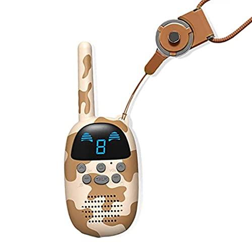 chisatowww Juguetes para niños Walkie Talkie Remote Radio Call Hand Held Mini Juguetes de Camuflaje Regalos para niños de 3 a 14 años Niñas, 3 Millas de Largo Alcance Niños Walky Talky (1 Paquete)