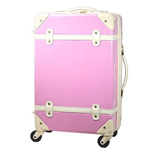 MOIERG(モアエルグ) キャリーバッグ YKK使用 軽量 かわいい スーツケース (S, ピンク)[71-80008-31]