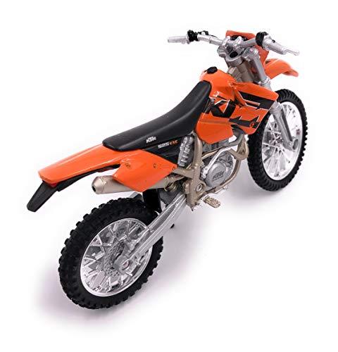 H-Customs Motorrad Bike EXC 525 Orange Cross Enduro Modell Lizenzprodukt 1:18
