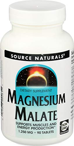 Source Naturals Magnesium Malate 1250 mg - 90 tabs