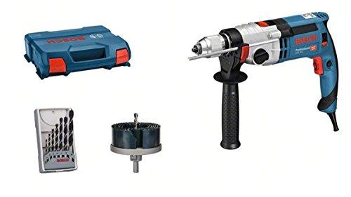 Bosch Professional Schlagbohrmaschine GSB 24-2 (1.100 Watt, max. Drehmoment: 40/14,5 Nm, inkl. Zubehörset, in L-Case)