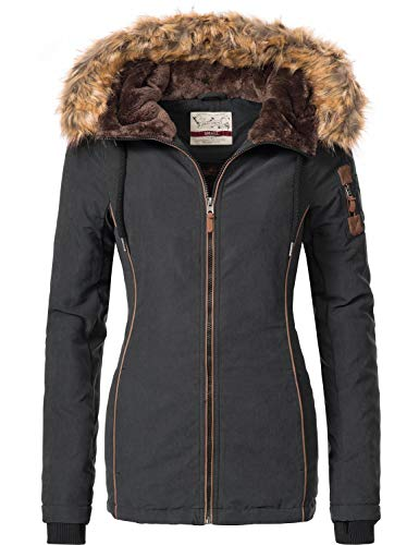 Urban Surface dames winterjas met capuchon 44392A 5 kleuren S-XL