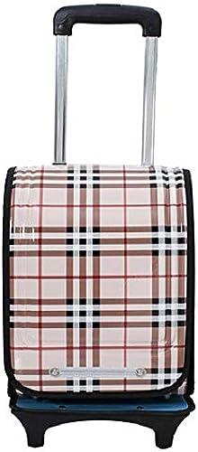 QILEGN Schulranzen, Kinderrucksack, Studentententrolley Koffer Tasche Universal Rollen Schultasche