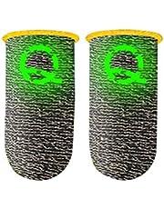 Wawogic 2PCS Gaming Luminous Finger Sleeve Transpirable Fingertips para PUBG Mobile Games Pantalla táctil Finger Cots Cover Sensitive Mobile Touch