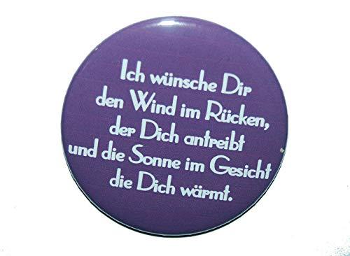 Spruch: Liebe Ich wünsche dir - Varianten: Button 50mm Kühlschrankmagnet 50mm Flaschenöffner 59mm Taschenspiegel 59mm