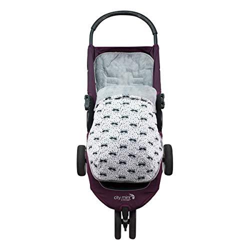 JANABEBE Saco para Baby Jogger City Mini Joolz (RACCOON, POLAR)