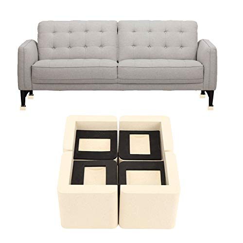 Juicemoo Möbelerhöhungsfußpolster, 4 Stück Multifunktionale rutschfeste Bettauflage Möbelheber Erhöhen Sie den Lagerraum für Möbel Pp-Material hat eine große Tragfähigkeit