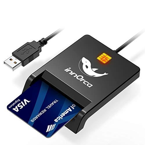 IC-Smartcard-Leser, USB-CAC-Kartenleser Militärischer Common Access-Kartenleser für Digitale Signatur des Personalausweises, Kompatibel mit Windows XP/Vista/Mac OS/Linux