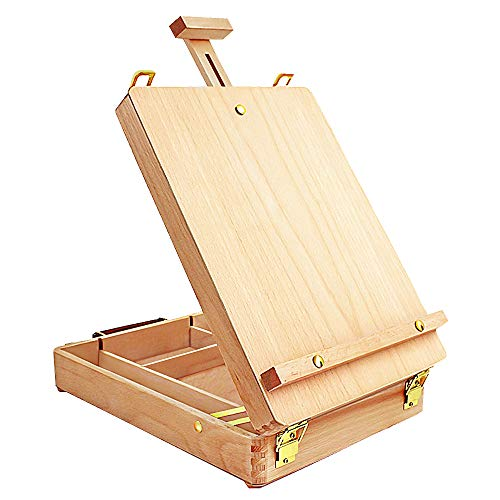 Tabletop Easel Art Easel Desktop Easel for Painting, Premium Wooden Sketchbox...