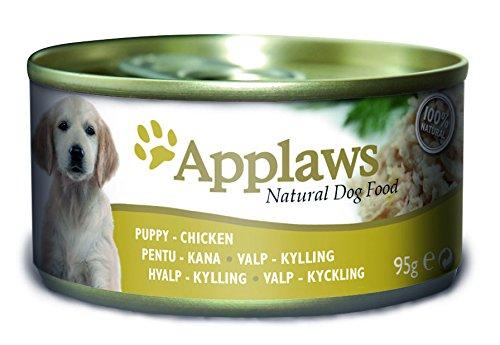 Applaws Lata para Perro Cachorro pechuga de Pollo, Paquete de 12 Unidades (12 x 95 g)